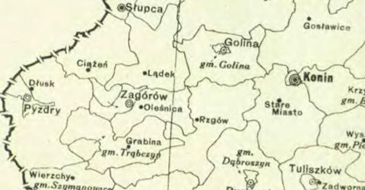 gminy rzgow olesnica trabczyn zagorow w roku 1933