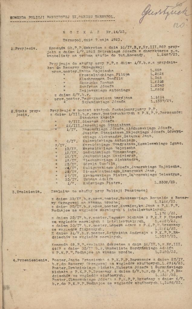 rozkazy-komendanta-policji-panstwowej-ix-okregu-w-tarnopolu-nr-1-s-123