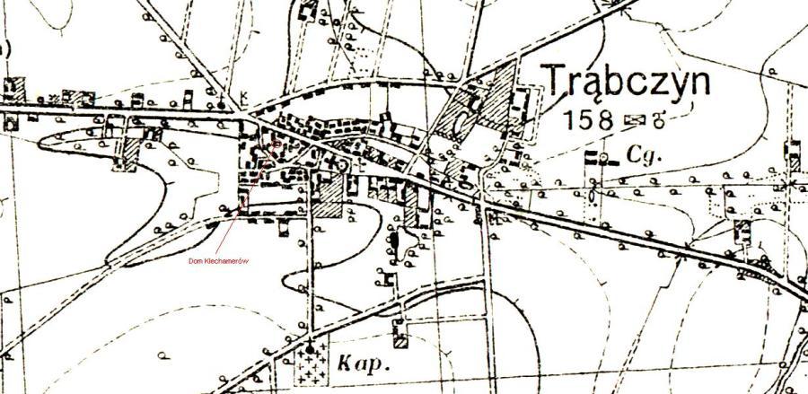 Trąbczyn w 1935 -dom Klechamerow