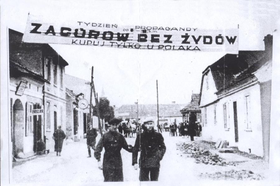Transparent antysemicki nad ulicą Kilińskiego